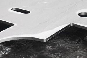 Präziser Laserschnitt von Stahlblechen
