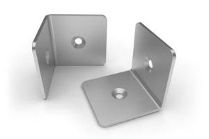 Aluminium-Blechbearbeitung von Befestigungswinkeln