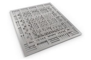 Laser-Blechzuschnitt aus Edelstahl