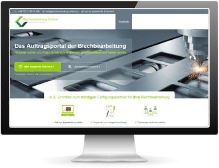 Anfragebutton auf Blechbearbeitung Online