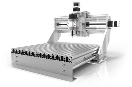 Ansicht der Konstruktion einer Laserschneidanlage