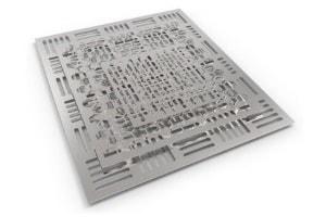 Laserschneiden von Stahlblech für den Maschinenbau