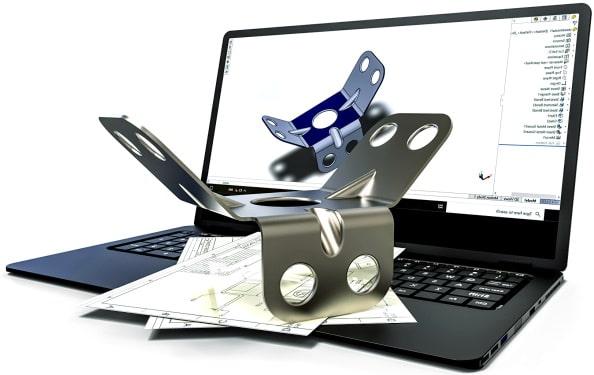 Online-Fertigung von Blechteilen mit detailgenauen CAD-Modellen