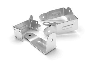 Abgekantete Stanzbiegeteile aus Aluminium für die Befestigungstechnik